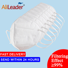 Alileader Soft Mouth Mask Anti dust PM2.5 Anti Dust Face Mask Non-Woven Fabric 4 Layers Filter Mask For Hair Salon Use 10PCS