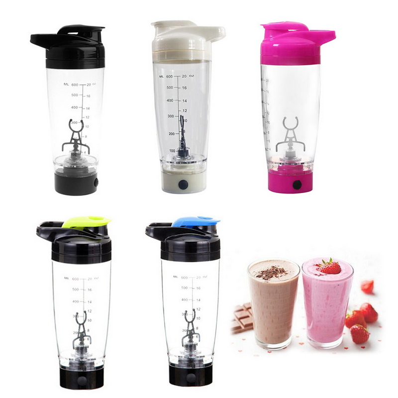 600MLPortable Movement Mixing Water Bottle Vortex Tornado PP Free Kitchen Accessories Electric Automatic Protein Shaker-in Water Bottles from Home & Garden on AliExpress