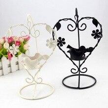 Multifunction Decor Iron Candle Holder Birthday Party Gift Creative Wedding Decoration Restaurant Romantic Dating Heart-Shaped