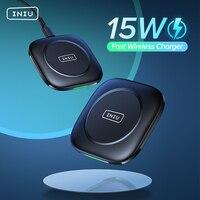 INIU 15W Qi caricabatterie Wireless + ricevitore USB C supporto per ricarica rapida per iPhone 13 12 11 Pro Max 8 Samsung S21 S20 nota 20 9 LG