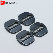4PCS Auto Case Stainless Protective Cover Steel Door Lock Buckle For Nissan Qashqai MK2 J11 2013-2019 Car Styling(China)