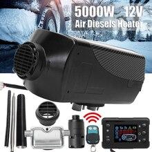 Parking Heater 12V 5000W Air Diesel Heater 5kw Auto Voor Vrachtwagens Met Afstandsbediening Lcd Monitor Voor Rv camper