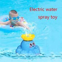 Игрушка для ванны спрей воды Осьминог поплавок вращающийся фонтан