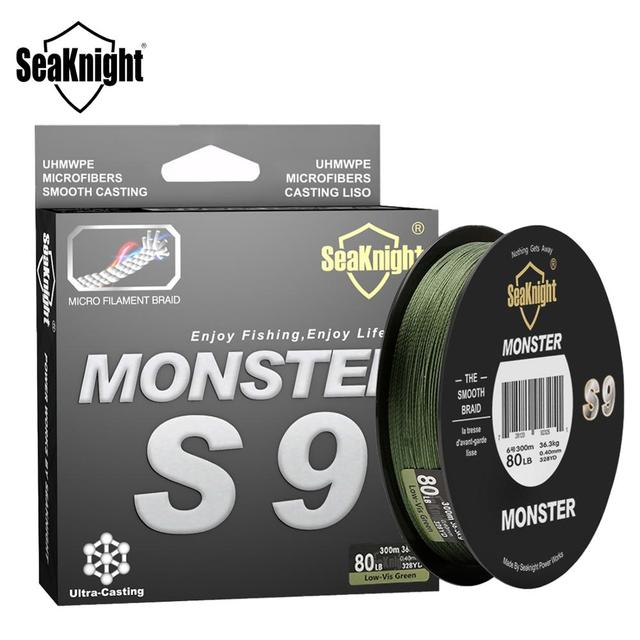 Super Best SeaKnight Monster S9 300M PE minnesota fishing lines