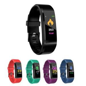 Image 1 - Wasserdicht und Staubdicht Smart Armband Sport Bluetooth Armband Herz Rate Monitor Uhr Aktivität Fitness Tracker Smart Band