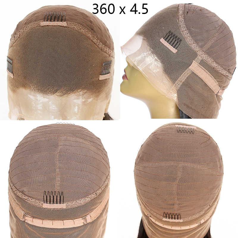 Парики из натуральных волос на кружевном фронте, парик из волнистых волос, 360 парик из кружева, 150, 180 плотность, Remy, 4,5 и 6 дюймов