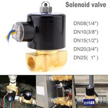 цена на Solenoid Valve DC 12V 3/4'' NPT N/C Brass Normally Closed Electric Valve for Water Oil Air Diesel-Gas Fuels