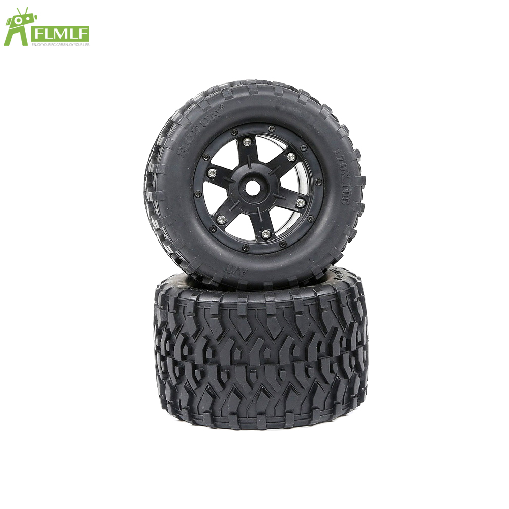 All Terrain Tyre Set(170mmX105mm) for 1/8 HPI Racing Savage XL FLUX Rofun Rovan TORLAND Monster Brushless Truck Rc Car Toy Parts image