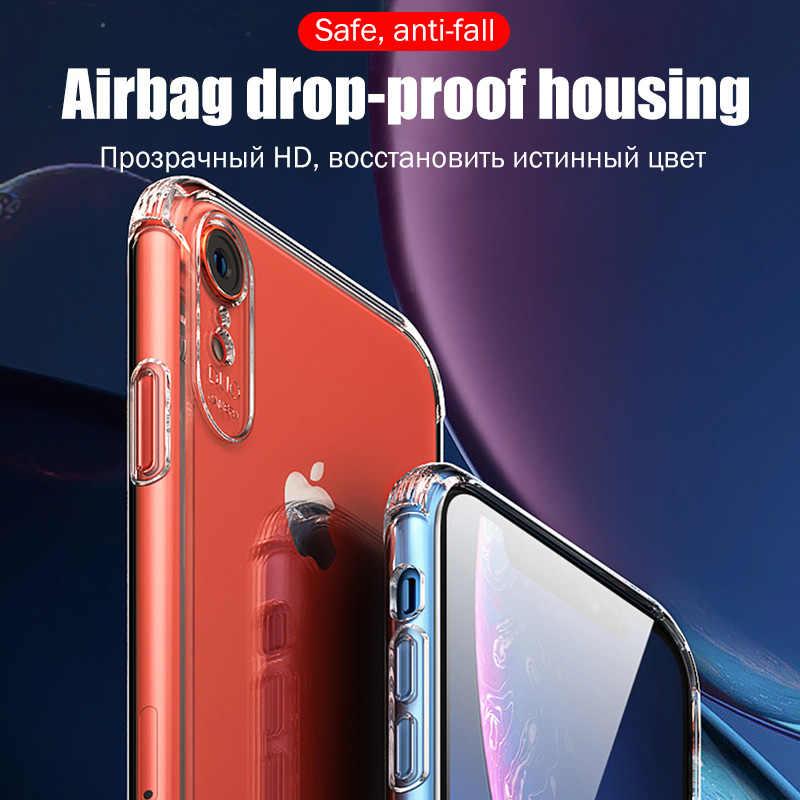 Airbag Antichoc étui pour iPhone 11 Pro X XS Max Soft TPU Housse En Silicone Pour iPhone 5 6 6s 7 8 Plus XR XS MAX Étui Sac À Dos