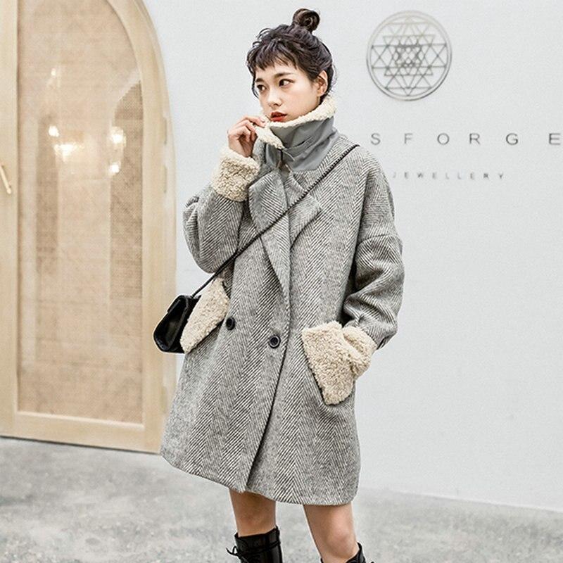 Gray Berber Fleece Collar Cuff Coat 2
