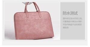 Image 4 - Матовая водонепроницаемая сумка из искусственной кожи для ноутбука 14, 15,6, 17,3, сумка для Macbook Air 13, сумка Pro 13,3, 15, чехол, Деловые женские и мужские сумки через плечо