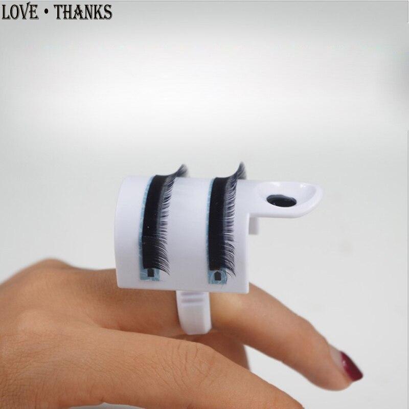 Отдельные Накладные ресницы поднос и клеевое кольцо два в одном набор для макияжа инструмент u-образный клей держатель палитра клея для