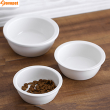Pet dog Food Feeder Cat Ceramic bowl Anti Skid dog cat drinking feeding bowl Water Food tray Container dish for Kitten puppy new dog cat bowls stainless steel food bowl travel feeding feeder water bowl anti skid dry food pet bowl drinking water dish