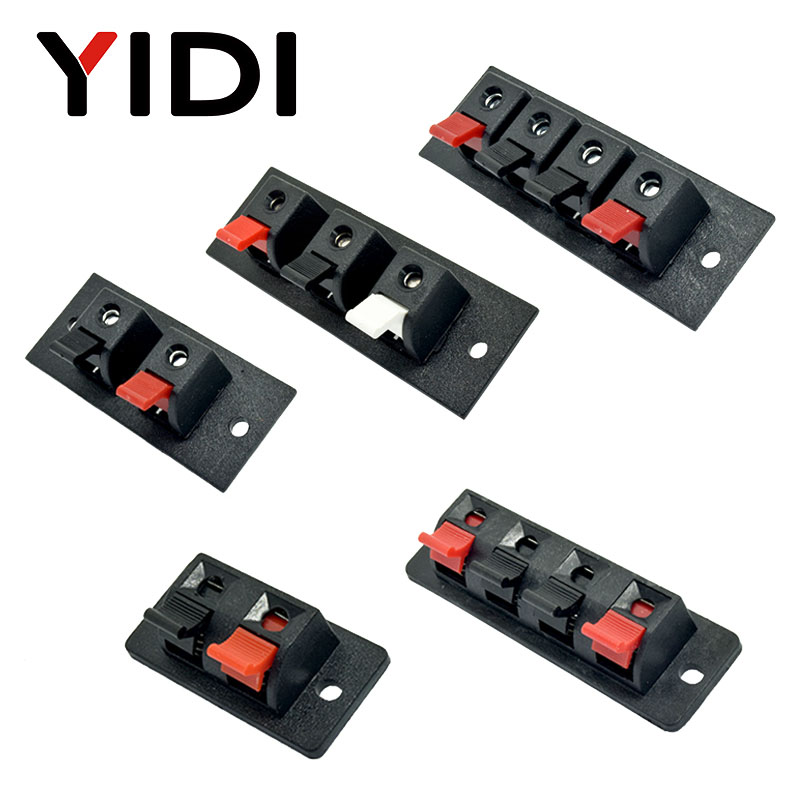 5 Pcs 2 Positions  4 Poles 3 Position Connector Terminal Push In Jack Spring Load Audio Speaker Terminal Breadboard Clip