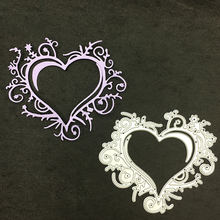 «Любящее сердце» металлический Трафаретный вырубной штамп шаблоны