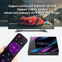 android 4 2 Set Top TV Box 4G DDR3 USB 3.0 Bluetooth 4.0 Android 9.0 9 OS 4K 4096x2160 H96 max Smart Penta-Core Mali-450 RK3318 GPU 2.4G/5G (2)
