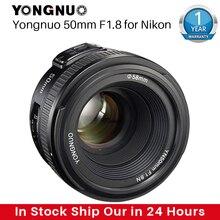Objectif de caméra YONGNUO YN50MM F1.8 pour Nikon D800 D5100 D5200 D5300 objectif de caméra reflex numérique AF MF à grande ouverture pour Sony ZV 1 RX100 VII