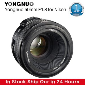 Image 1 - YONGNUO YN50MM F1.8 Camera Lens for Nikon D800 D5100 D5200 D5300 Large Aperture AF MF DSLR Camera Lens For Sony ZV 1 RX100 VII