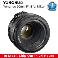 YONGNUO YN50MM F1.8 كاميرا عدسات لنيكون D800 D5100 D5200 D5300 فتحة كبيرة AF MF DSLR عدسة الكاميرا لسوني ZV 1 RX100 السابع