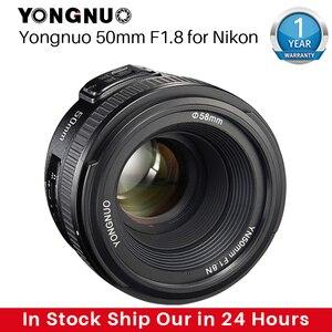 Image 1 - YONGNUO YN50MM F1.8 kamera Nikon için Lens D800 D5100 D5200 D5300 büyük diyafram AF MF DSLR kamera Lens için Sony ZV 1 RX100 VII