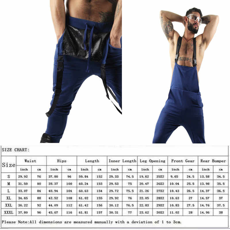 2019 New Style Men's Ripped Jeans Jumpsuits Hi Street Distressed Denim Bib Overalls For Man Suspender Pants Plus-size S - 4 xl