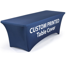 4/6/8ft High Quality Full Color Printed Spandex Stretch Table Throw,Exhibition Tension Fabric Advertising Table Cover Printing