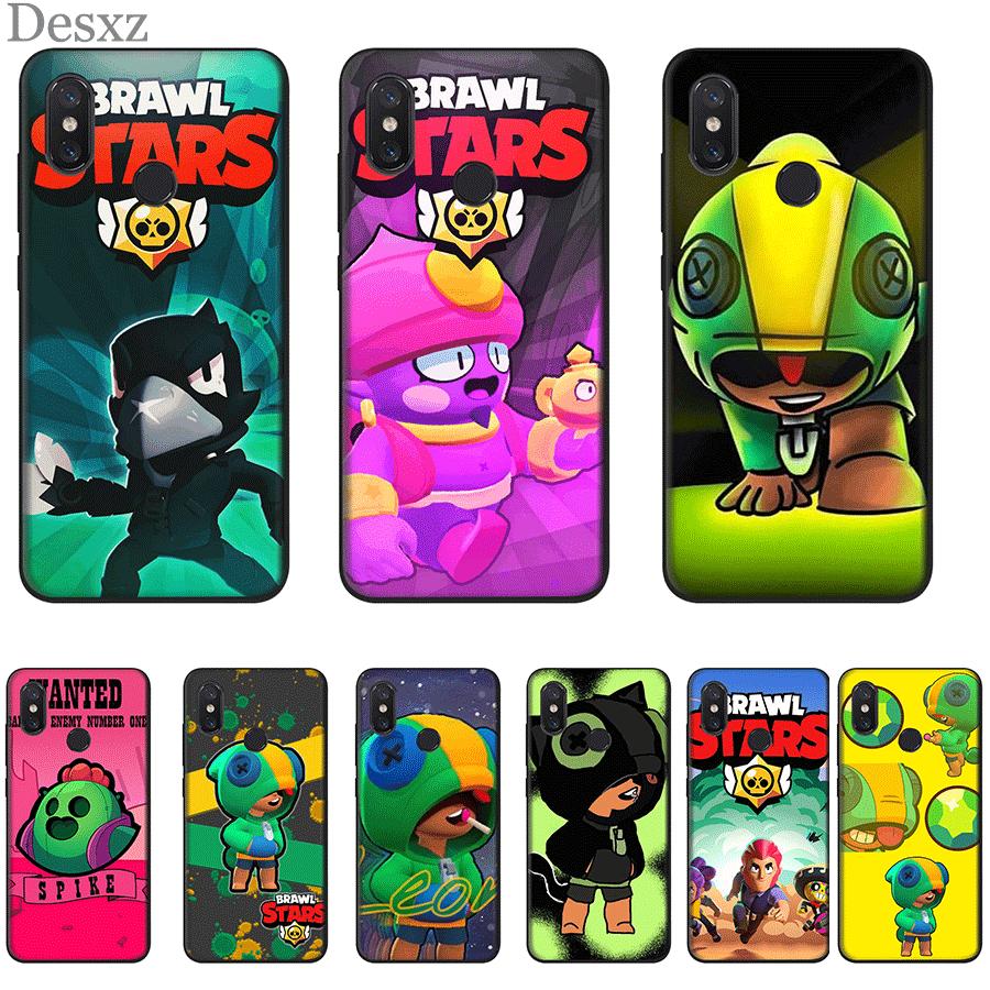 Phone Case TPU For Xiaomi Mi 6 8 A3 9T Pro CC9 CC9E MAX 3 9 SE F1 A1 A2 Lite 5X 6X Cover Brawl Stars Crow Leon Spike