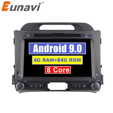 Eunavi 2din Android 9.0 car dvd for KIA sportage 2011 2012 2013 2014 2015 headunit gps navigation 2 din car multimedia 4G 64G(China)