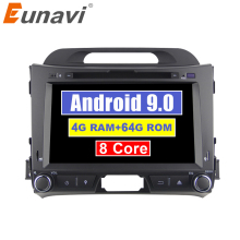 Eunavi 2din Android 9.0 car dvd for KIA sportage 2011 2012 2013 2014 2015 headunit gps navigation 2 din car multimedia 4G 64G