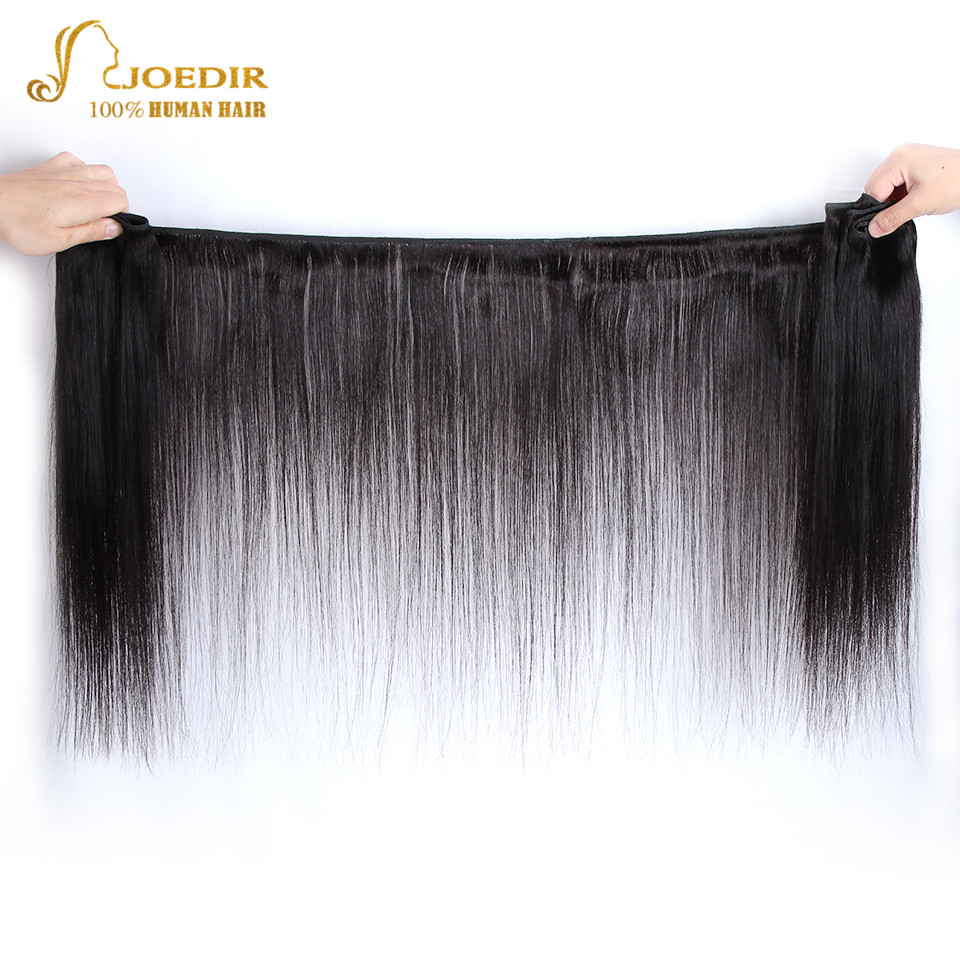 Image 2 - Joedir Hair Human Hair Weave 3 4 Bundles With Closure Brazilian Straight Weave Non Remy Hair 28 30 Inch Bundles With Closure-in 3/4 Bundles with Closure from Hair Extensions & Wigs
