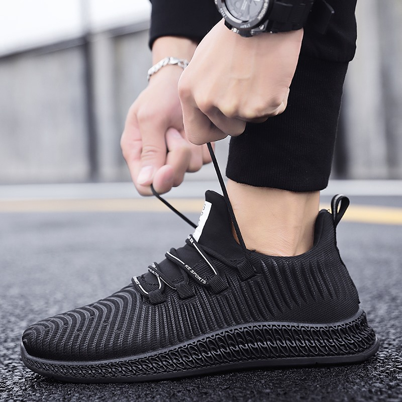 Adisputent 2019 Men Shoes Running Men's Wild Outdoor Sneakers Shoes Comfortable Woven Casual Running Shoes Mens Shoes Casual