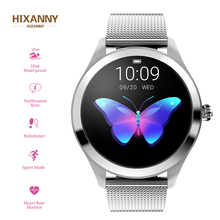High-end KW10 SmartWatch Women 1.04 Inch Screen IP68 Waterproof Heart Rate Monitor Physiological Reminder Sport Fitness Bracelet