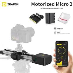 In Stock Zeapon Motorized Micro 2 Rail Slider Mini Portable Ultra Silent Aluminum Alloy for DSLR Mirrorless Camera Maxload 4.5Kg