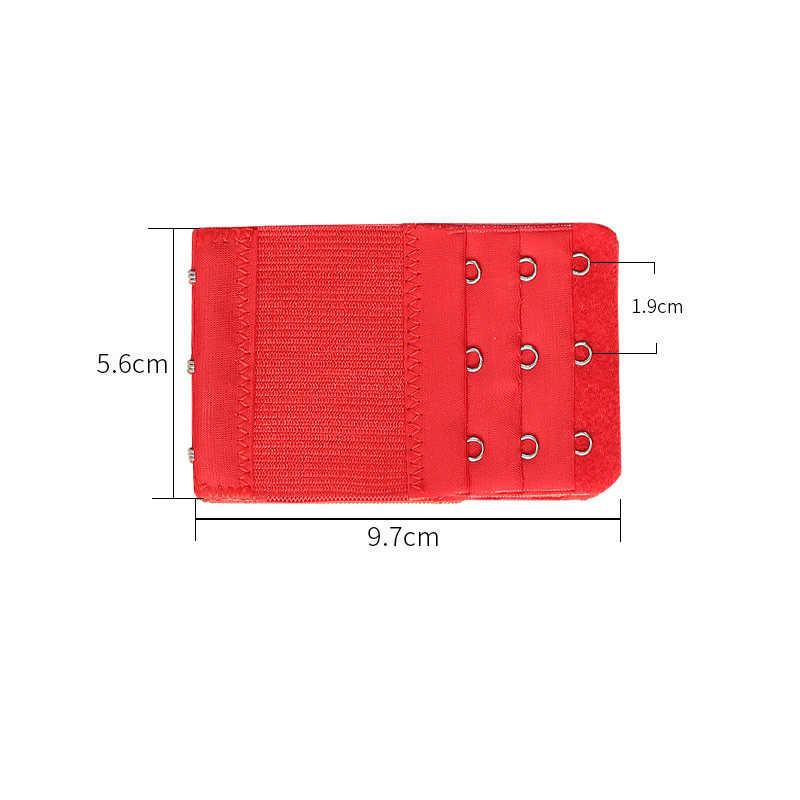 1PC Bh Extender Strap Verlängerung 3 Haken 3 Reihen Candy Farbe Vertrauten Verstellbaren Gürtel Schnalle Ersatz Bh Extender Für frauen