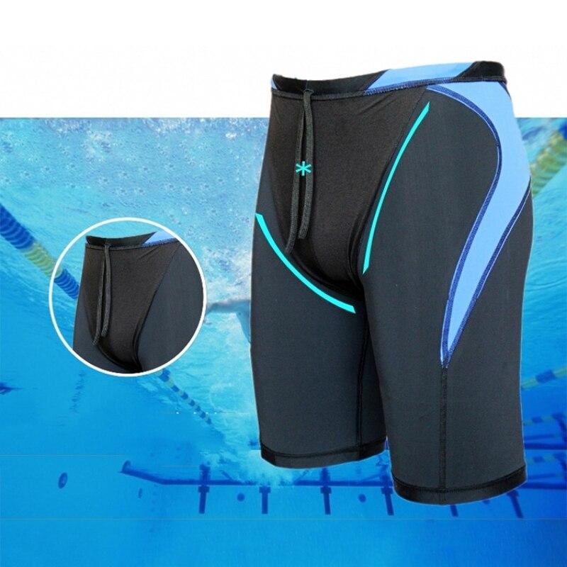 Men Swiming Trunks Waterproof Quick Dry Bathing Suit Diving Swimsuit Boxer Briefs Surf Board Mens Beach Shorts Swimwear