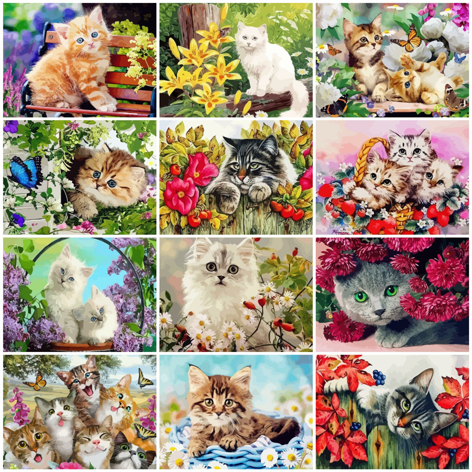 "Alphabet Cat ACEO Print Letter /""T/"" by I Garmashova"