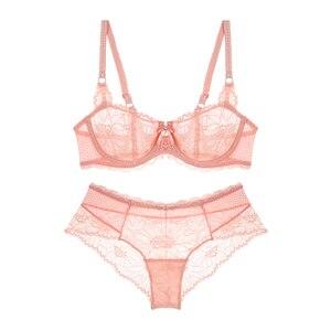 Image 2 - Hot sexy women bra Summer 2019 fashion Sheer Lace floral Bralette Bras Girls Strappy lingerie bra underwear sweet wire free Bra