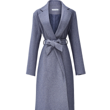 NEW Autumn Winter Coat Women Woolen Coats With Belt Overcoat