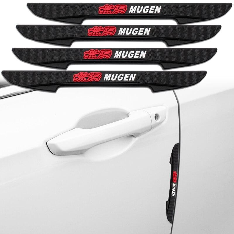 4 шт. автомобиль Стикеры край двери защитный чехол с защитой от царапин защитное устройство дверной аварийный Бар Для Mugen Мощность Honda Civic Accord...