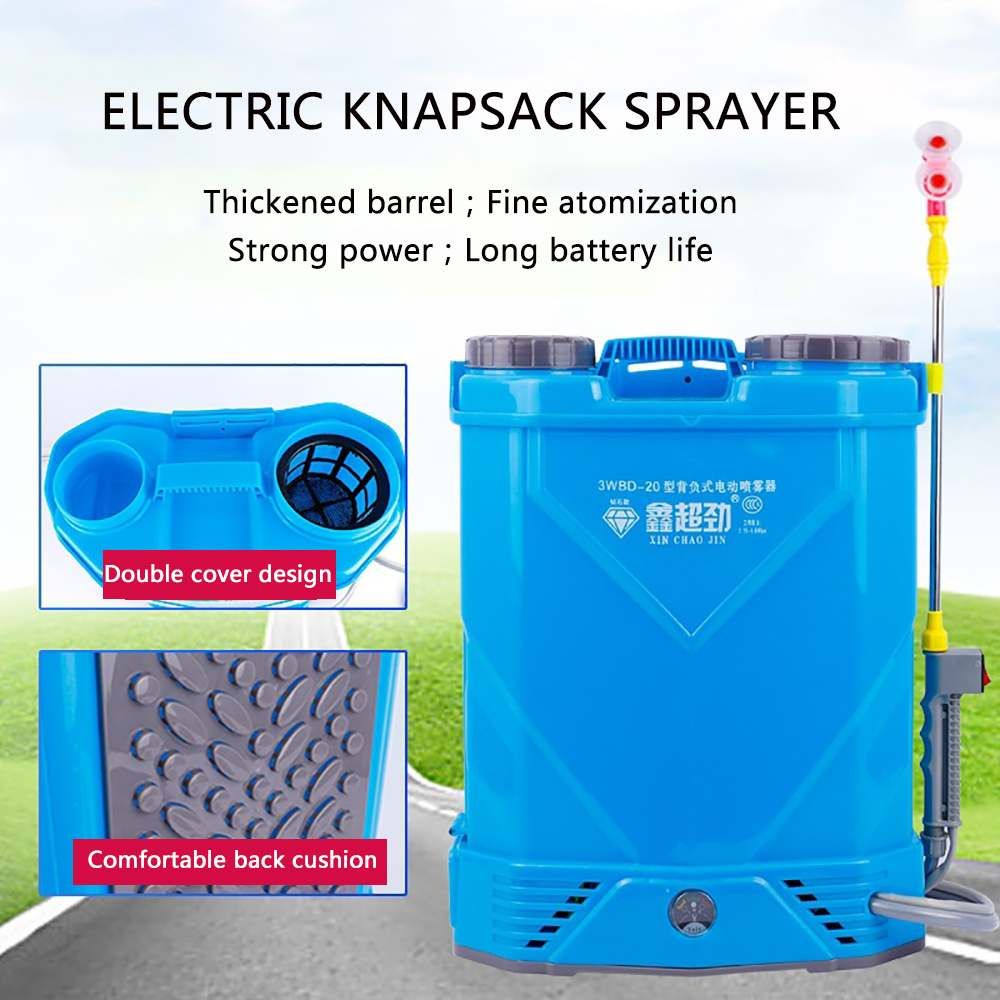 20L 12V 25W Electric Knapsack Sprayer 10Ah Lithium Battery Multi-function Disinfection Fogger Farm Garden Agricultural Plant Car