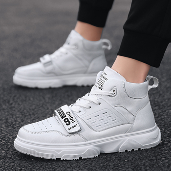 Classic high-top skateboard shoes breathable non-slip leisure shoes lightweight sneakers white shoes sneakers men image
