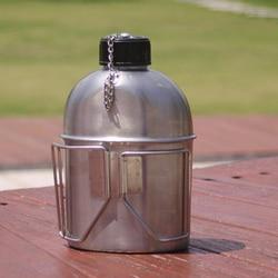 1L stołówka ze stali nierdzewnej z pojemnikiem na kubek wody 0 6l na wędrówki z plecakiem i inne sporty na świeżym powietrzu w Zewnętrzne zastawy stołowe od Sport i rozrywka na