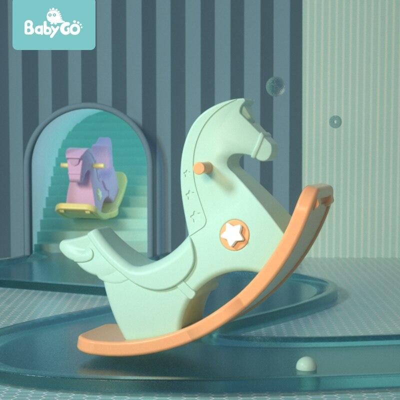 BabyGo enfants cheval à bascule jouet éducatif musique videurs pour bébé cadeau extérieur intérieur salle de jeux enfants chaise à bascule