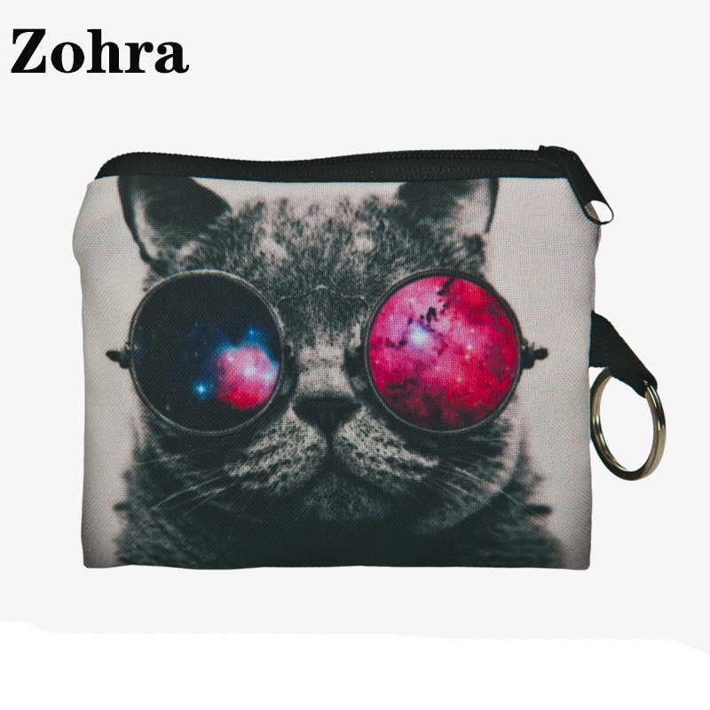 Zohra 2019 Hot Selling 3D Printed Purse AliExpress Hot Selling Wear Red Glasses Cat Purse