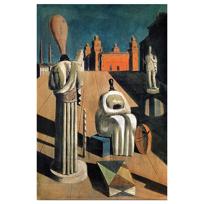 The Disquieting Muses Painting by Giorgio de Chirico Printed on Canvas 5
