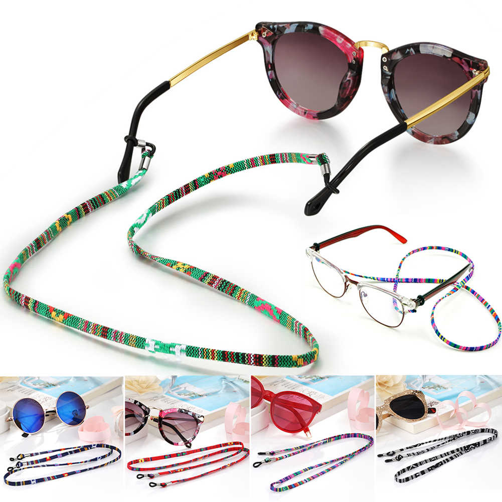 1Pc 5CM Width 9 Colors New Eyeglass Cord Adjustable End Glasses Holder Colorful Leather Glasses Neck Strap String Rope Band