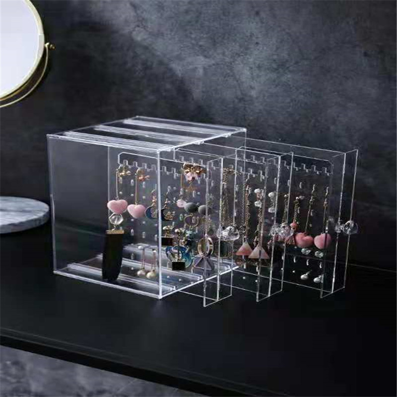 New Fasion Acrylic material Jewelry Display Holds Up Earrings Earring Holder And Jewelry Organizer Earring Showcase Stand Box title=
