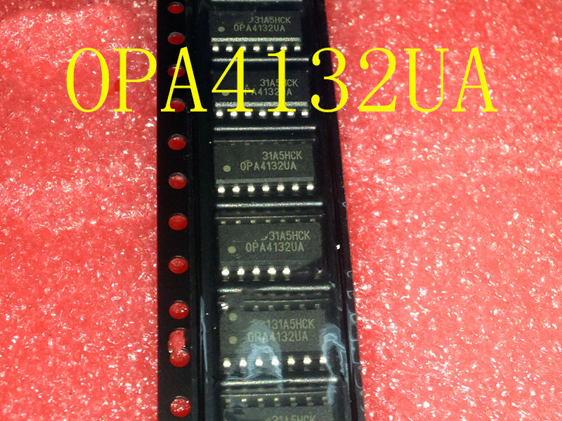 NEW 10PCS/LOT OPA4132UA OPA4132U <font><b>OPA4132</b></font> SOP-14 IC image