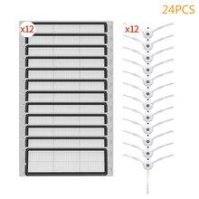 24 sztuk robot odkurzacz filtr szczotka zestaw akcesoria dla xiaomi mijia 1 s 2S inteligentny zamiatarka narzędzie roborock s50 s6 s51 s55 części