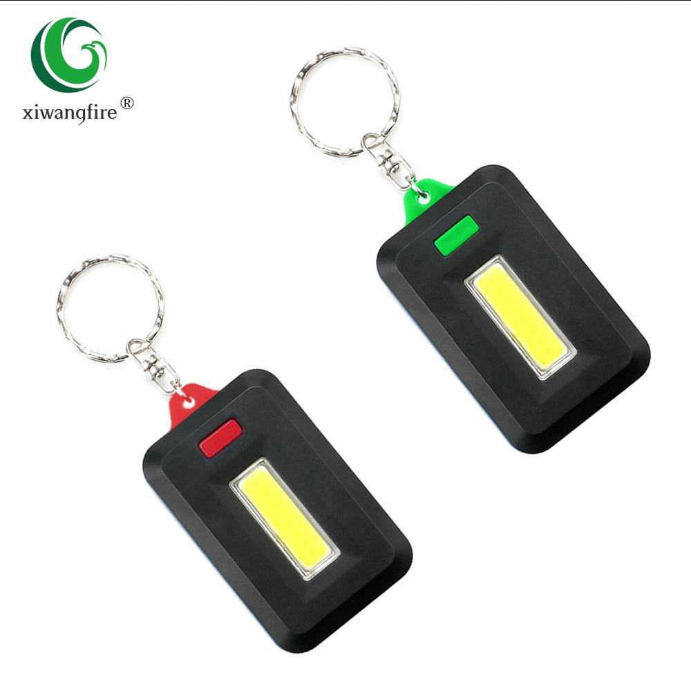 Portable Super Mini Light LED FlashLight Key Ring Torch 4-Mode Keychain Lamp
